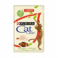 CAT CHOW 85.0 пауч ADULT Говядина 1/24