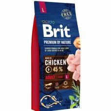 Brit 15кг Premium by Nature Adult L д/собак крупных пород 526468