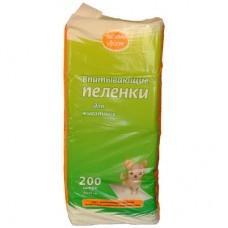 Пеленки 33*45 см 200шт Чистый хвост впитывающие  (00381373   )