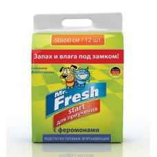 Пеленки 60*60 см 12шт гелевые Mr.Fresh Start 1/12