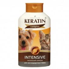 Шампунь д/жесткошерстных кошек и собак 400мл KERATIN+ Intensive R505