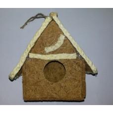 Дом д/птиц из соломы 12*8*18см Алиса 00053