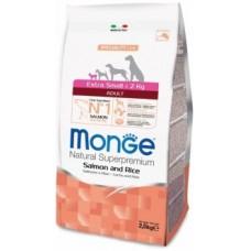 MONGE 2,5кг Dog Speciality Extra Small корм д/взрослых собак мини пород лосось/рисом 1464 1/6,,