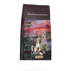 LANDOR 15кг д/щенков всех пород от 1 до 18 месяцев утка с рисом 1/1 (00381951   )