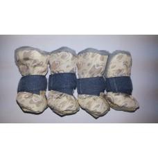 Ботиночки д/собак на меху р.М Osso Fashion бежевые
