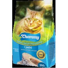 Chammy 350гр сух. д/кошек с рыбой 1/18