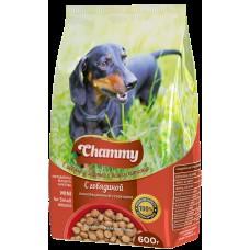 Chammy 600гр сух. д/взрослых собак мелких пород c говядиной