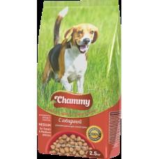 Chammy 2,5кг сух. д/взрослых собак мелких и средних пород c говядиной 1/4