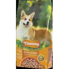 Chammy 2,5кг сух. д/взрослых собак мелких и средних пород мясное ассорти