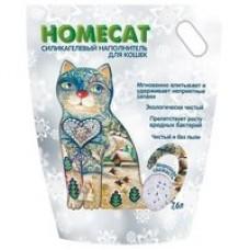 HOMECAT 7,6л/3,3кг наполнитель силикагелевый Морозная свежесть (00382431   )