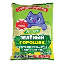 Наполнитель 7л Япония с Зеленым горошком и ароматом японского чая  и индикатором здоровья комкую  (00383116   )