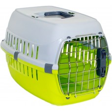 Переноска 31х51х34 смRoadrunner 1 для АВИАПЕРЕВОЗОК замок IATA, цвет лимон  (00383574   )