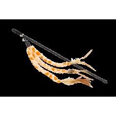Дразнилка 47см YUGI для кошек с кисточками оранжевая 47см /YT92575/ (00383899   )