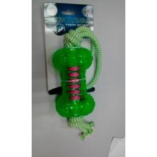 Кость12*6,6см игрушка д/собак YUGI двухцветная сине-зеленая 12*6,6см