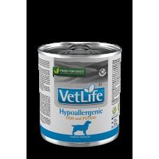 FARMINA Vet Life Dog 300г конс. Hypoallergenic Рыба с картофелем гипоаллергенный 2819 1/6 (00384101   )
