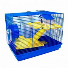 Клетка д/грызунов 47*30*37, 3-этажная, прямоугольная, укомплектованная.№1