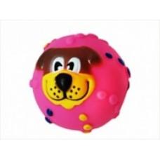 Мяч 6,5см  собака разноцвет. винил 1*420шт, 1*288шт УЮТ