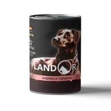 LANDOR 0,4кг конс. д/щенков всех пород индейка/говядина 9053   1/6 (00384231   )