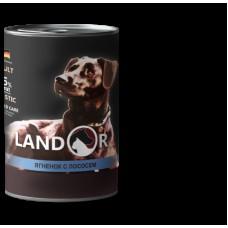 LANDOR 0,4кг конс. д/собак всех пород ягненок/лосось 9060 1/6 (00384232   )