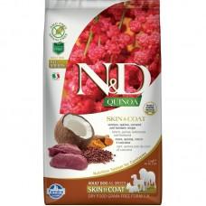 FARMINA N&D Dog Quinoa 2,5кг д/собак Adult с олениной уход за кожей и шерстью 5615 1/4 (00384435   )