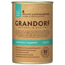 GRANDORF DOG 400,0 конс д/собак Куропатка/Индейка 4387 (00384495   )