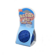 H81137, Игрушка д/собак - Мяч с колокольчиком, каучук Rubber Ball With Bell Dog Toy  (00384730   )