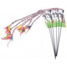 GLG Игрушка д/к Дразнилка с пером цветная на удочке