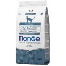 MONGE 1,5кг Cat Monoprotein Sterilised Trout д/кошек стерилизованных с форелью 5494 1/6