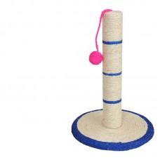 Когтеточка 30х46см столбик с цветным мячем,  CF819     2157