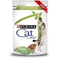 CAT CHOW 85,0 пауч д/стерил кошек Соус Ягн&ЗелФ 1/24 (00385569   )