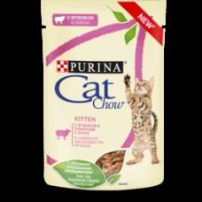 CAT CHOW 85,0 пауч д/котят соус Янг&Каб 1/24 (00385624   )