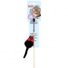 Дразнилка Мышь норка M МИККИ на веревке GoSi этикетка флажок sh-07234  (00386027   )