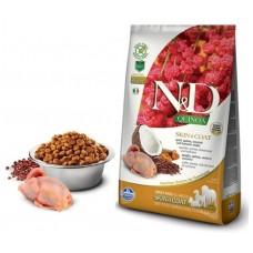 FARMINA N&D Dog Quinoa 2,5кг д/собак Adult с перепелкой уход за кожей и шерстью 5622 (00386098   )