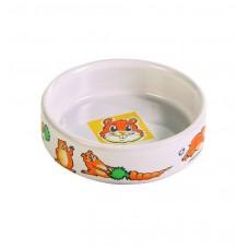 Миска керам. 0,1л д/хомяка ф 8,5 см, керамика с рисунком (00386240   )