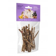 Little One д/грызунов 35гр Лакомые ветви c лепестками и травами 1/6 (00386387   )