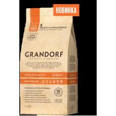 GRANDORF CAT 2 кг STERILISED Индейка/рис для стерилизованных кошек 5759 1/12