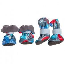 Ботиночки на флисе для собак р. S (подошва ЭВА) (00387905   )