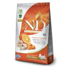 FARMINA N&DНЗ 7кг д/собак MINI Codfish & Orange Adult треска и апельсин д/взр.  (00387974   )
