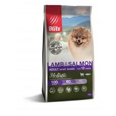 BLITZ Holistic 0,5 кг д/с ADULT LAMB & SALMON/беззерновой MINI Ягненок/Лосось1/24 5661 (00388202   )