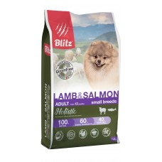 BLITZ Holistic 1,5 кг д/с ADULT LAMB & SALMON/беззерновой  MINI Ягненок/Лосось1/6  5562 (00388203   )