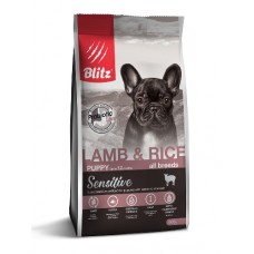 BLITZ Sensitive 0,5кг д/щ PUPPY Lamb&Rice/ Ягненок/рис 1/25 0498 (00388214   )