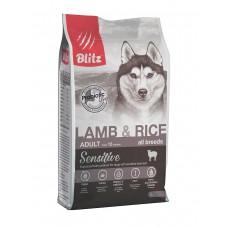 BLITZ Sensitive 2кг д/с ADULT Lamb&Rice Ягненок/рис 1/6   0467 (00388217   )