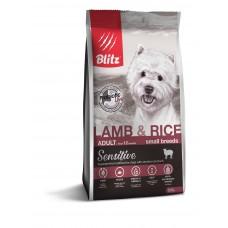 BLITZ Sensitive 0,5кг д/с ADULT SMALL Breeds Lamb&Rice/мелк.пород Ягненок/рис 1/25   0627 (00388219   )
