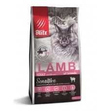 BLITZ Sensitive 0,4 кг д/к ADULT CATS LAMB Ягненок 1/25   0214 (00388243   )