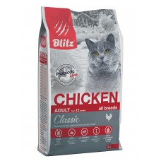 BLITZ Classic 2 кг д/к ADULT CATS CHICKEN/ Курица 1/6 шт  0252 (00388248   )
