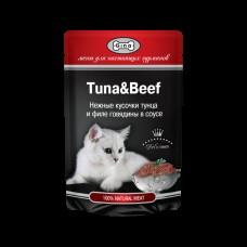 GINA пауч. д/кошек тунец/говядина 85 гр 0954 1/24 (00388772   )