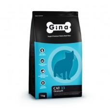 Gina Cat-33 Denmark 3кг 3405 для активных и выставочных кошек (00388796   )