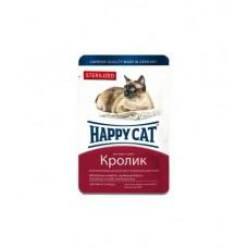 HAPPY CAT 100,0 пауч кролик кусочки в соусе для стерилизованных кошек 1/22 (00389103   )