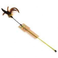 Дразнилка 73см 911 HOMECAT игрушка для кошек дразнилка с цветными перьями на пружине с колокольчик (00389718   )