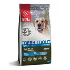 BLITZ Holistic ADULT FRESH TROUT/низкозерновой корм для взр. собак Свежая Форель/0,5 кг 5654 (00389918   )